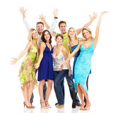 Happy people. Happy funny people. Isolated over white background Royalty Free Stock Photos
