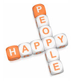 Happy People. Crossword on white background 3d render royalty free illustration