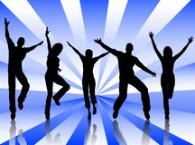 Happy people. A people group jumping for happiness and joy Stock Photography