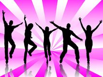 Happy people. A people group jumping and dancing for happiness Royalty Free Stock Photo