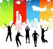 Happy people stock illustration