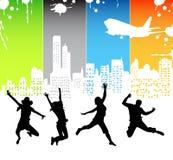 Happy people. Illustration of happy people....happy stock illustration