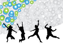 Happy people. Illustration of happy people jumping Royalty Free Stock Image
