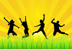 Happy people. Vector illustration of happy people royalty free illustration