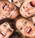 Happy people. Happy smiling funny young people Stock Photo