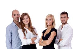 Happy people business team group together Royalty Free Stock Photos