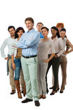 Happy people business team group together Stock Image