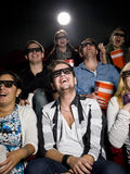 Happy people at the cinema Stock Photos