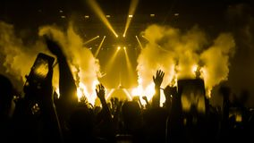 Happy people dance in nightclub party concert royalty free stock photo