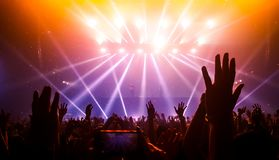 Happy People Dance in Nightclub Party Concert stock photo