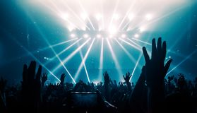 Happy People Dance in Nightclub Party Concert royalty free stock images