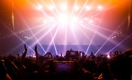 Happy People Dance in Nightclub Party Concert royalty free stock image