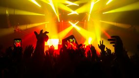 Happy People Dance in Nightclub Party Concert stock photos