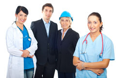 Happy people with different careers Stock Image