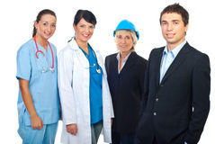 Happy people with different careers Royalty Free Stock Photo