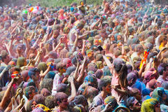 Happy people during   Festival de los colores Holi Royalty Free Stock Image