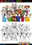 Happy People group for coloring Royalty Free Stock Image
