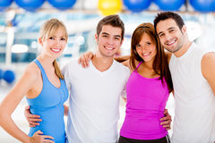 Happy people at the gym Royalty Free Stock Image
