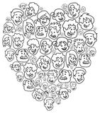 Happy people heart Stock Image
