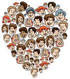 Happy people heart Royalty Free Stock Photos