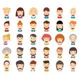 Happy people icon set. Illustration design Royalty Free Stock Photography
