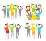 Happy people joyful group vector illustration Stock Images