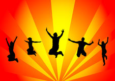 Happy people jumping Royalty Free Stock Images