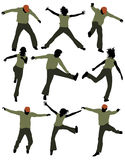 Happy people jumping, playing Stock Image
