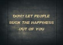 Happy people life enjoy positive letterpress stock image