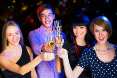 Happy people at party Stock Photography