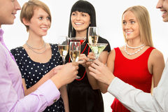 Happy people at party Royalty Free Stock Photo