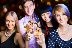 Happy people at party Stock Images