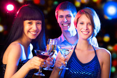 Happy people at party Royalty Free Stock Photography