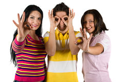 Happy People Showing Okay Sign Stock Images