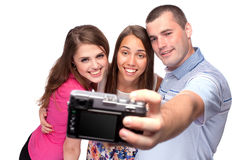 Happy people taking picture of themselves Stock Photos