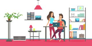 Free Happy People Talk, Spend Time At Home Interior, Couple Talking, Standing Together Royalty Free Stock Images - 213655319