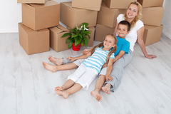 Happy people in their new home Royalty Free Stock Photo