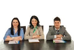 Happy people waiting for interview Royalty Free Stock Photo