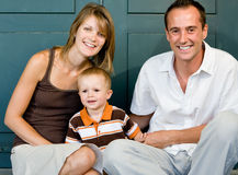 Happy perfect young family Stock Image