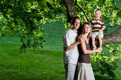 Happy perfect young family Royalty Free Stock Photo