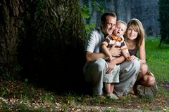 Happy perfect young family Royalty Free Stock Photography
