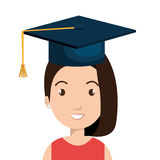 Happy person graduating design. Illustration eps10 graphic Stock Images