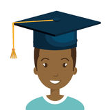 Happy person graduating design. Illustration eps10 graphic Royalty Free Stock Image