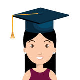Happy person graduating design. Illustration eps10 graphic Stock Photo