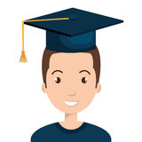 Happy person graduating design. Illustration eps10 graphic Stock Image