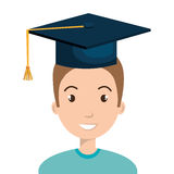 Happy person graduating design. Illustration eps10 graphic Stock Photography
