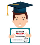 Happy person graduating design. Illustration eps10 graphic Royalty Free Stock Photography
