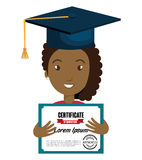 Happy person graduating design. Illustration eps10 graphic Royalty Free Stock Photo