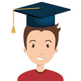 Happy person graduating design. Illustration eps10 graphic Stock Photos