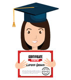 Happy person graduating design. Illustration eps10 graphic Royalty Free Stock Photos